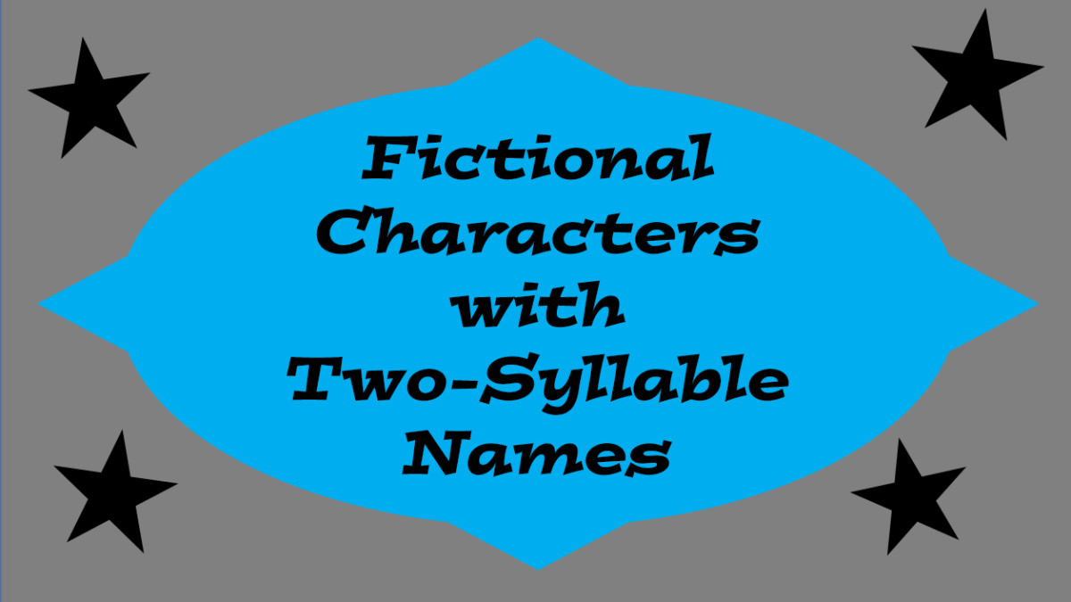 A list of fictional male characters with two-syllable names