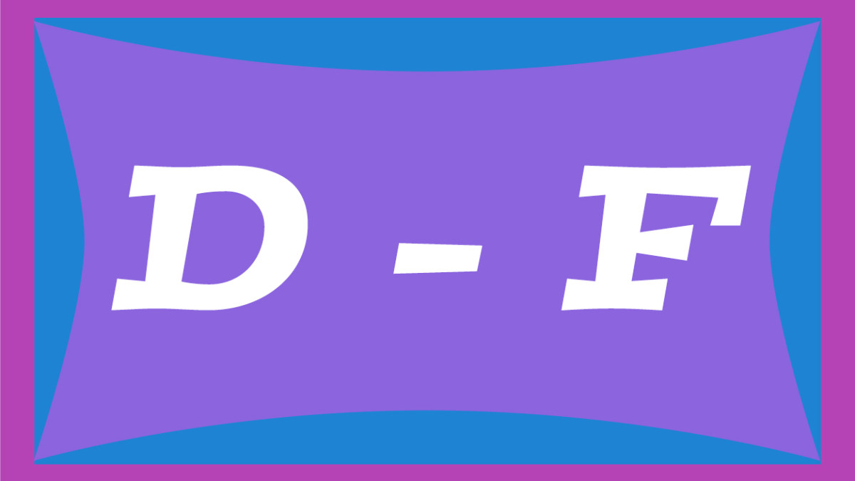Two-syllable names for girls from D through F