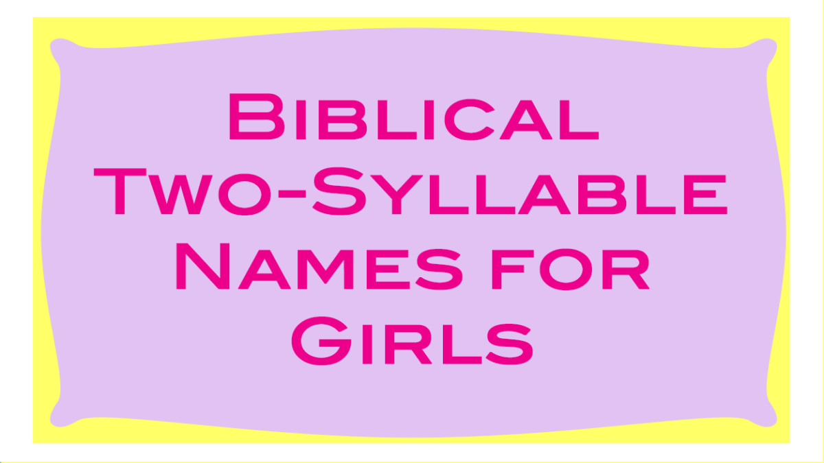 A list of more common girls' names in the bible that have two-syllables.