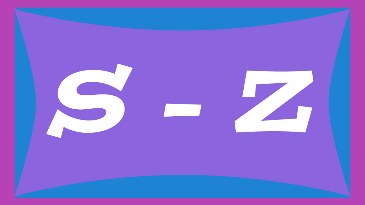 Two-syllable names for girls from S through Z