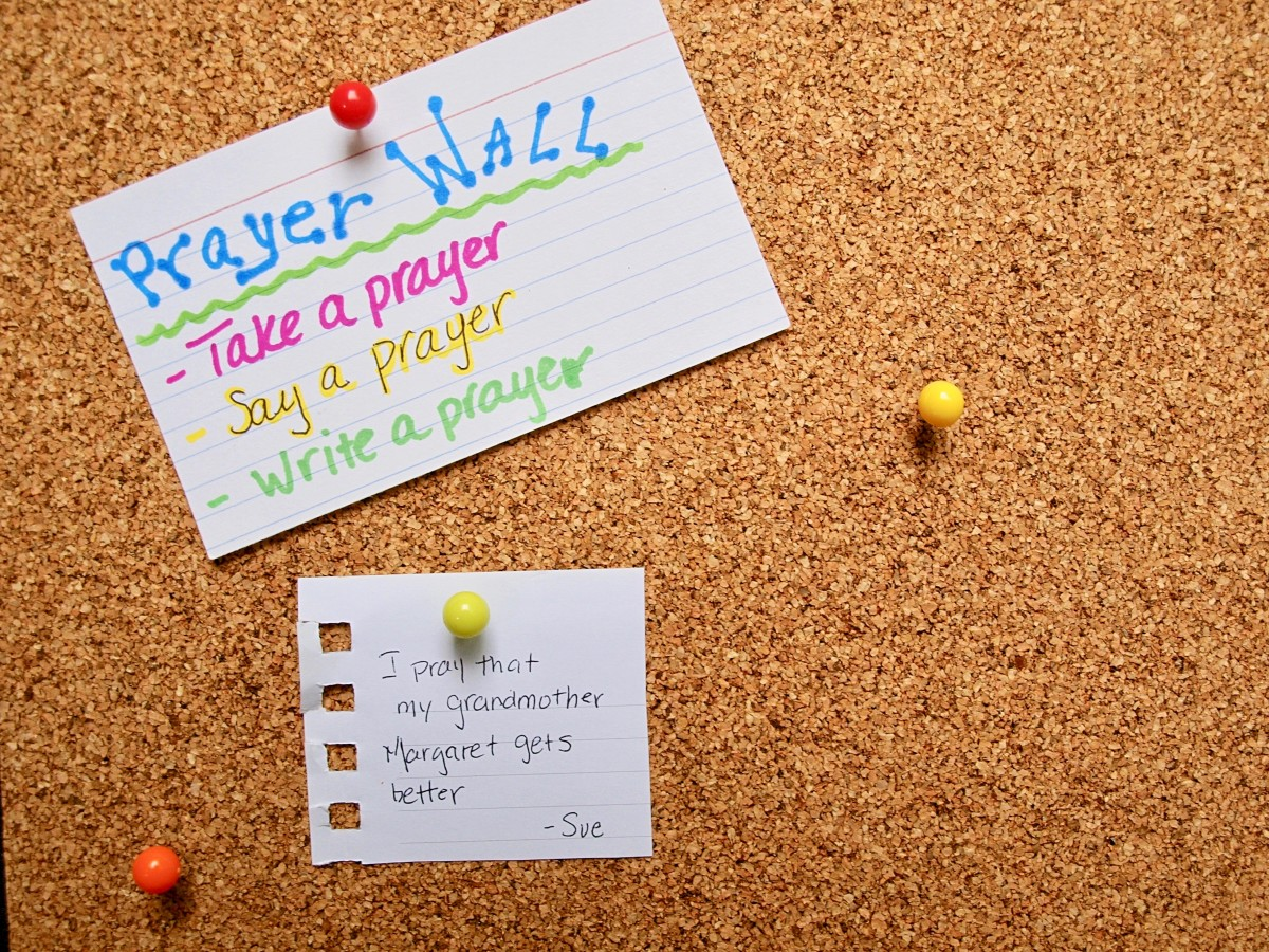 Prayer Walls are just one of the many ongoing activities church youth groups can organize.