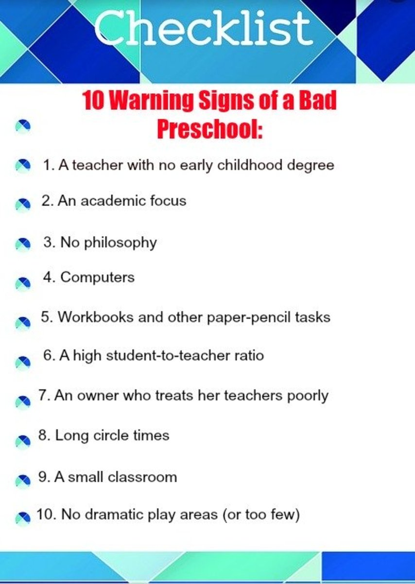 10 Warning Signs of a Bad Preschool That All Parents Should Know