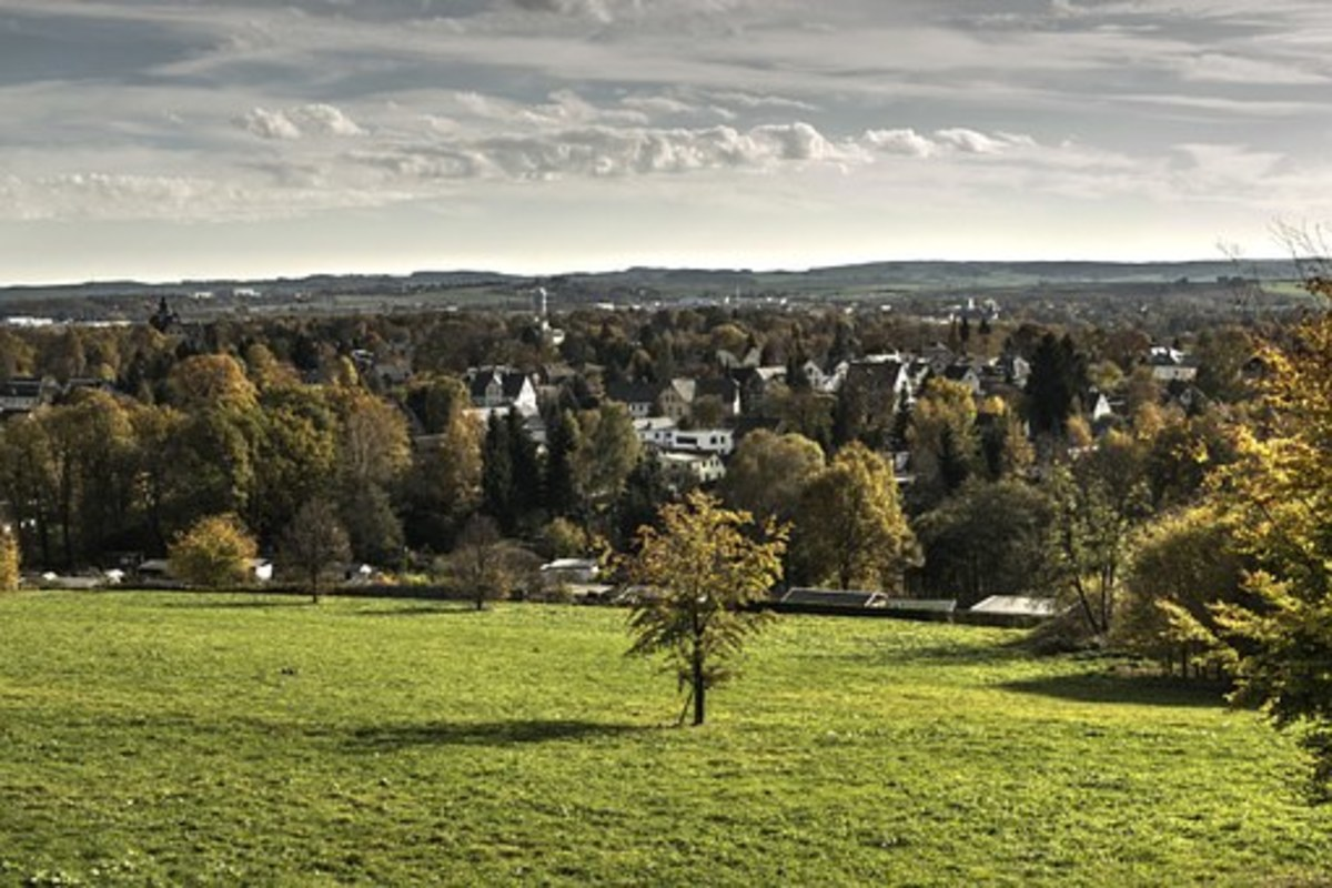 Landscape of Chemnitz, Germany