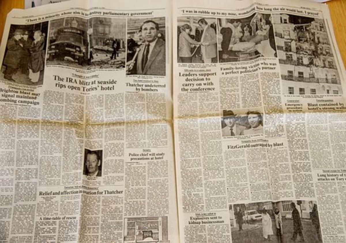 Newspaper historic photos print text