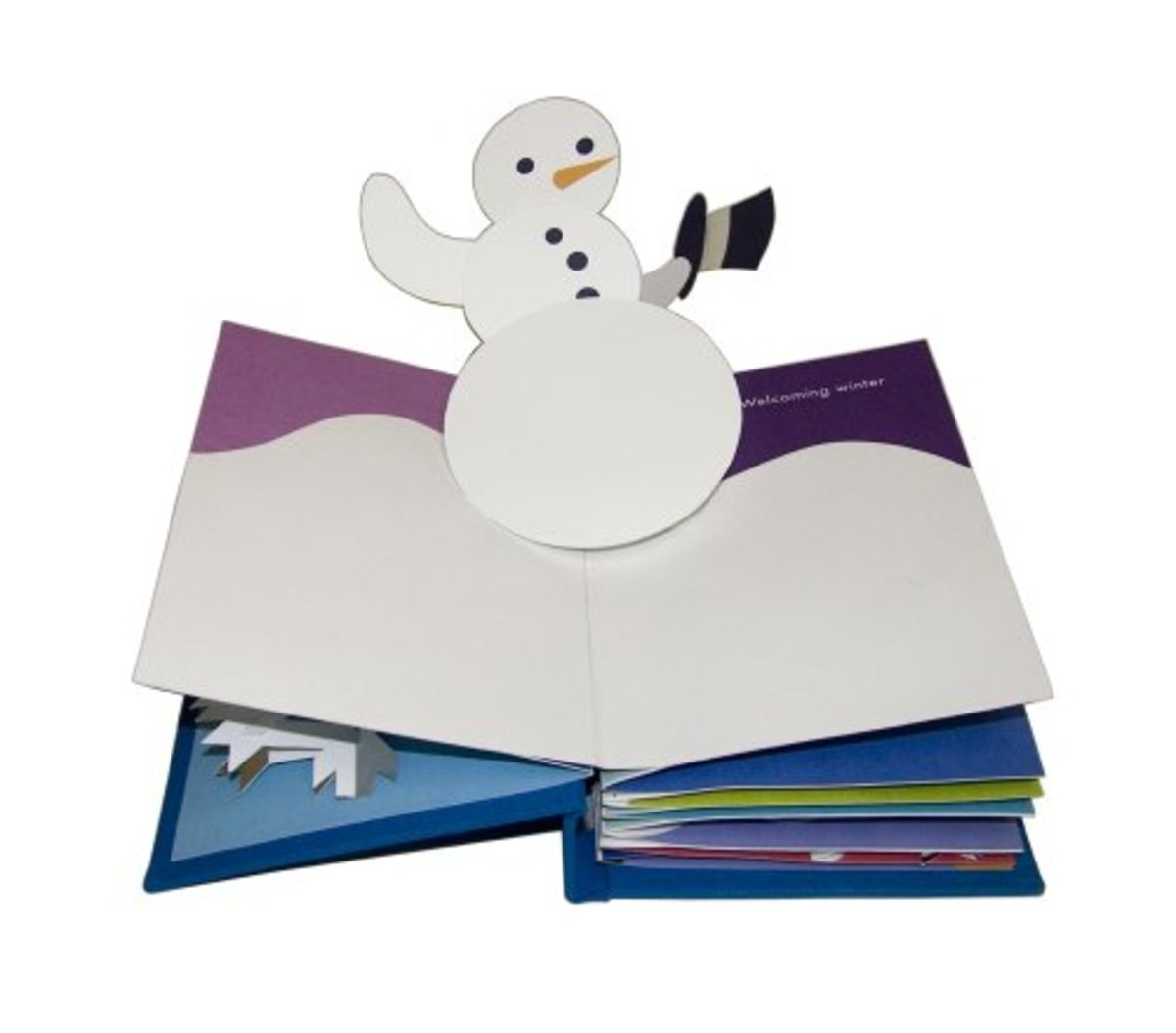 Winter in White by Robert Sabuda snowman pop-up