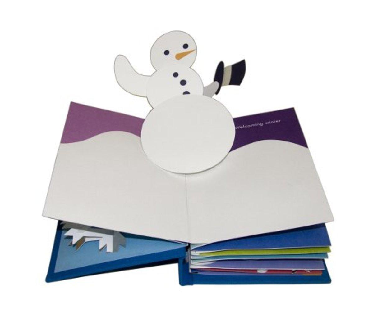 Winter in White by Robert Sabuda snowman pop-up