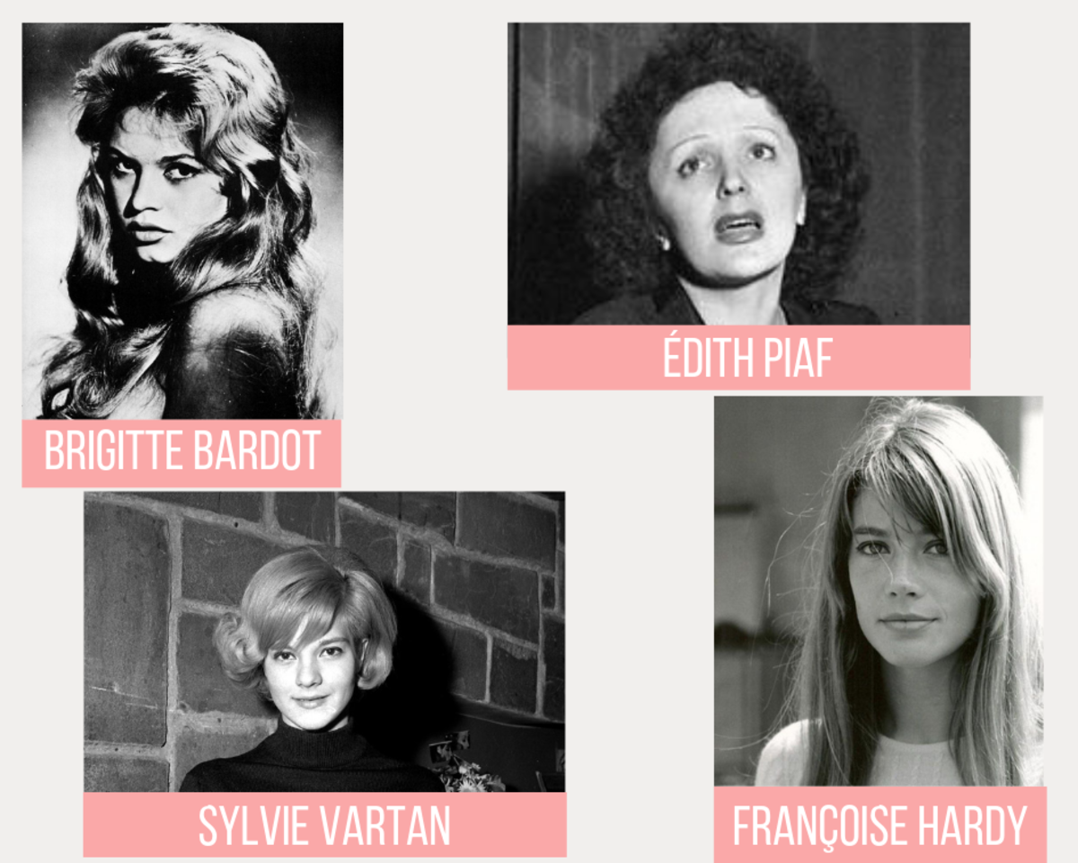French female celebrity icons