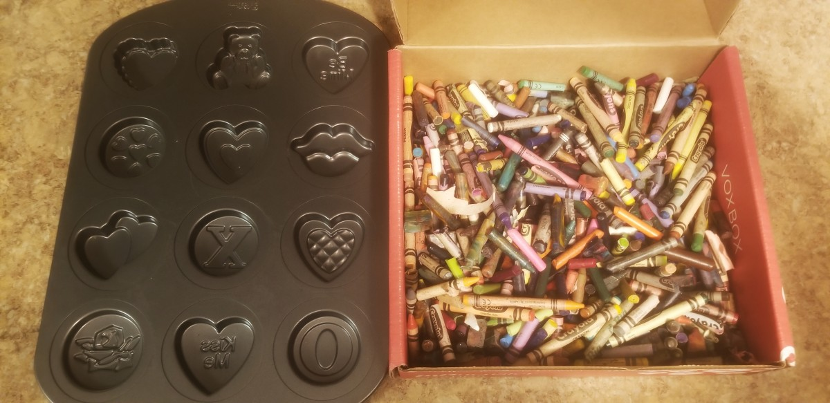 All you need are old crayons and a cookie sheet mold.