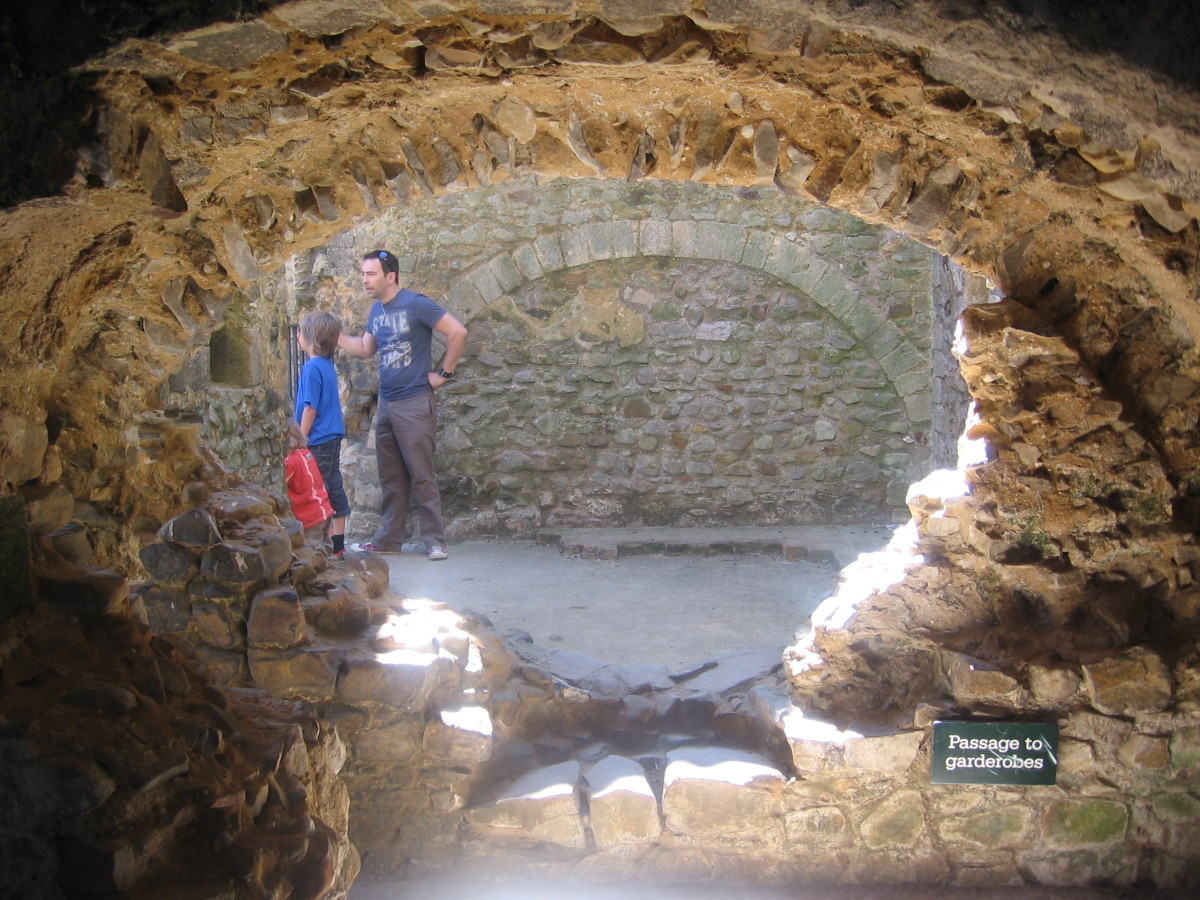This castle was inexpensive to visit and exploring it was a great adventure for the kids