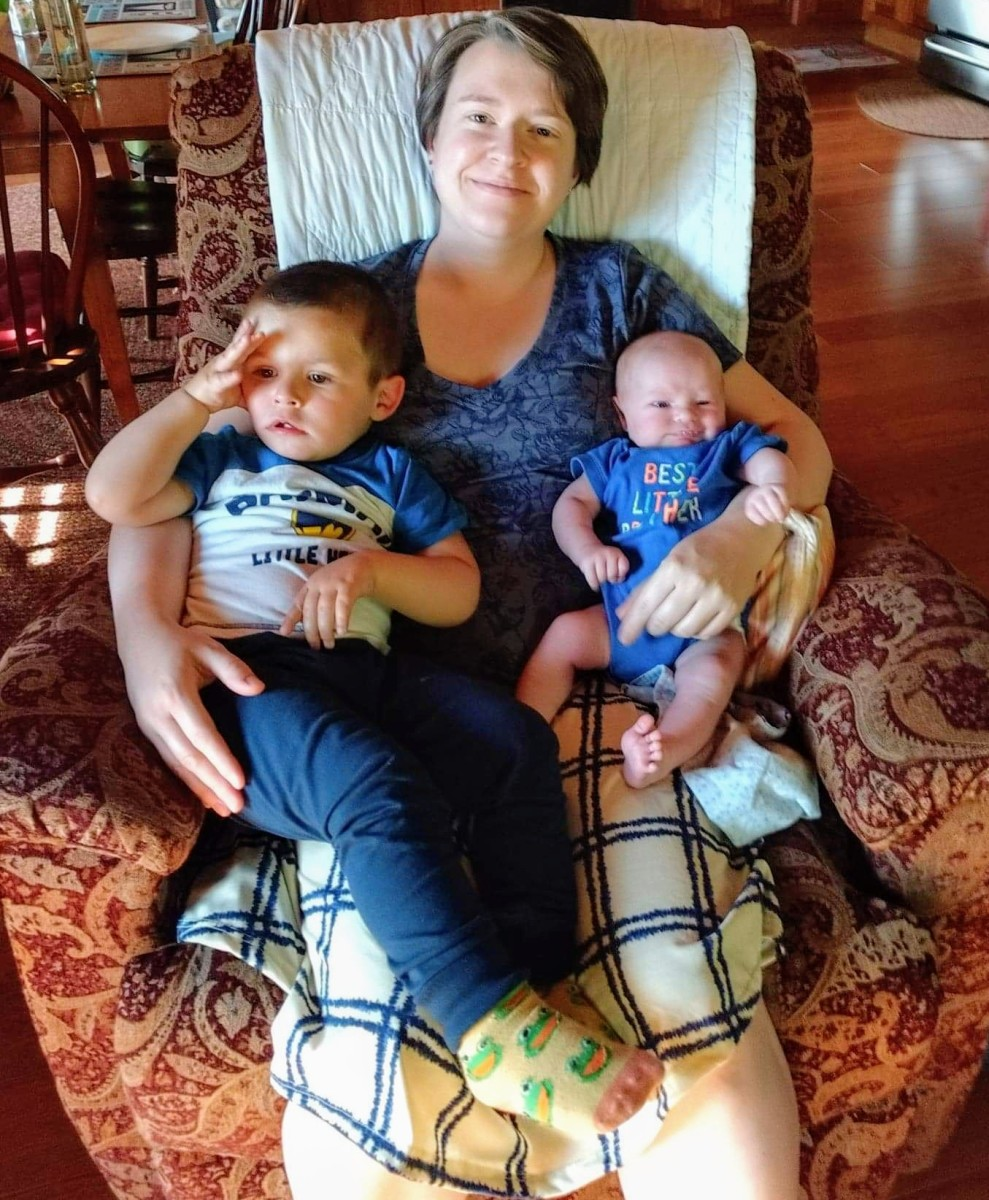 All 3 of us, in our diapers!