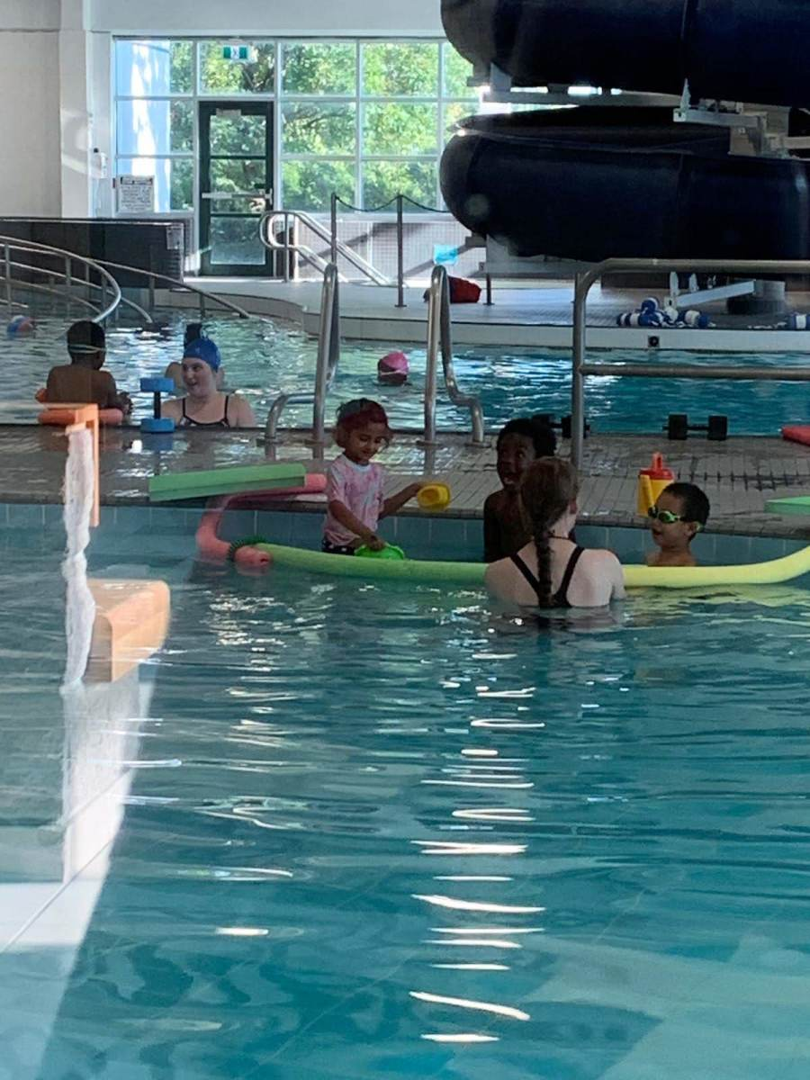 Swimming is another excellent activity the family can do together.
