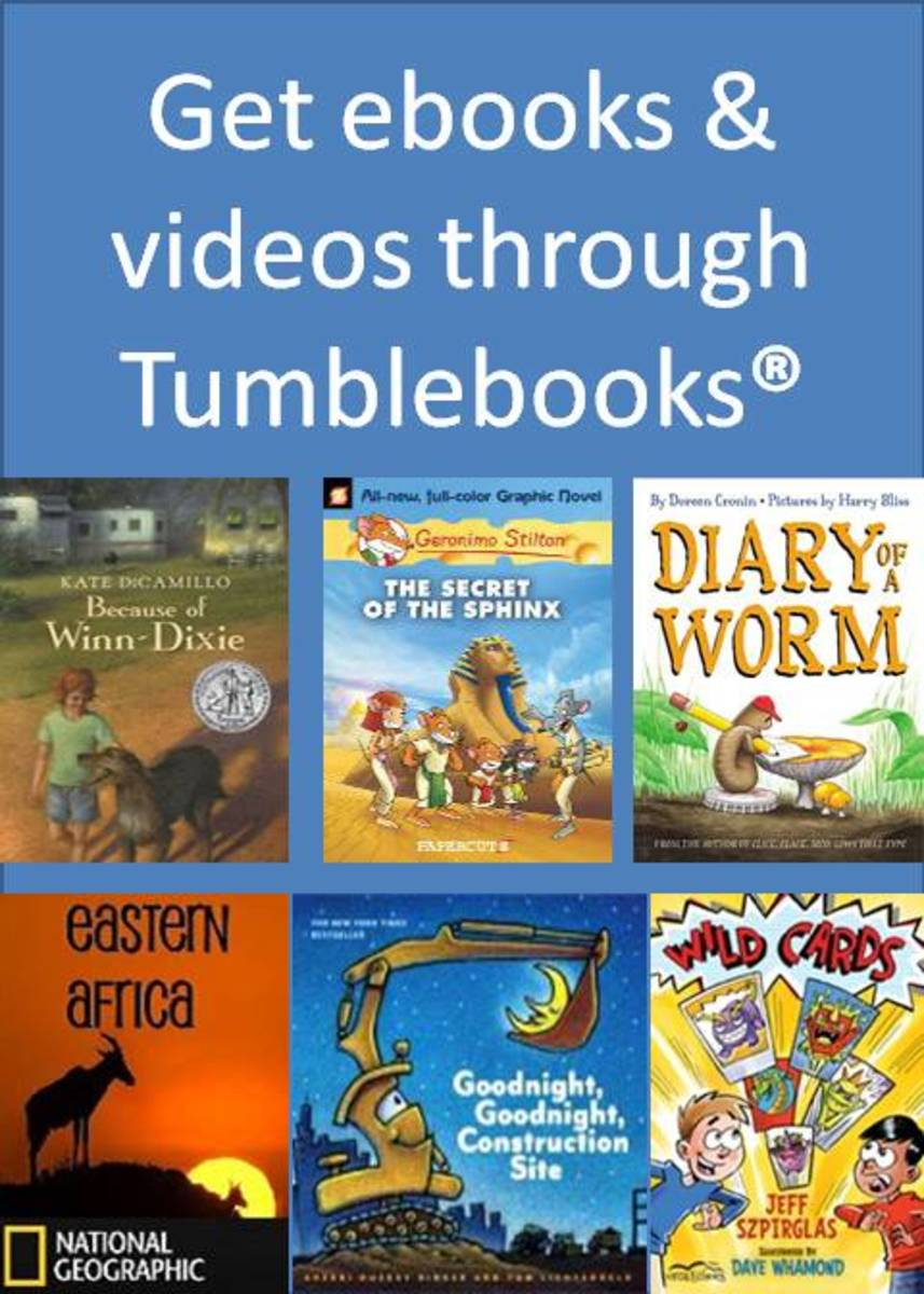 You can get a variety of books and videos through Tumblebooks, a service available for free through many libraries.