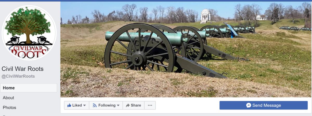 An example of a Civil War genealogy group on Facebook.