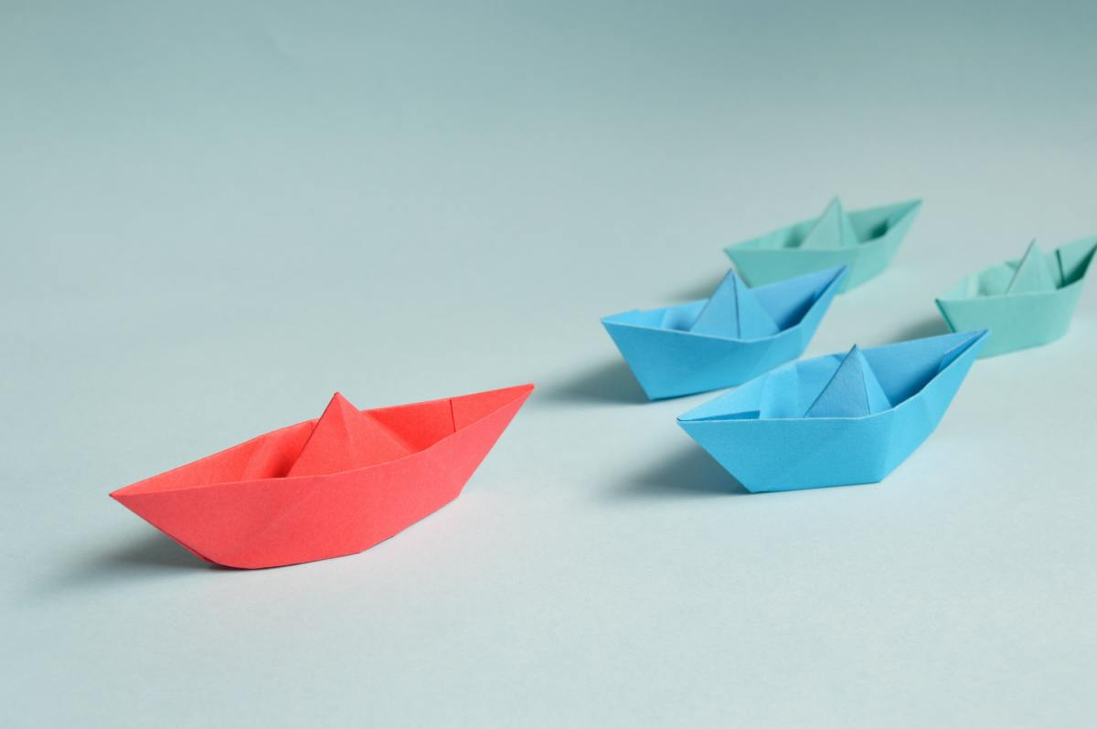 Making origami boats can be a fun activity to do with children, making creases and following directions helps a child develop their critical thinking and fine motor skills.