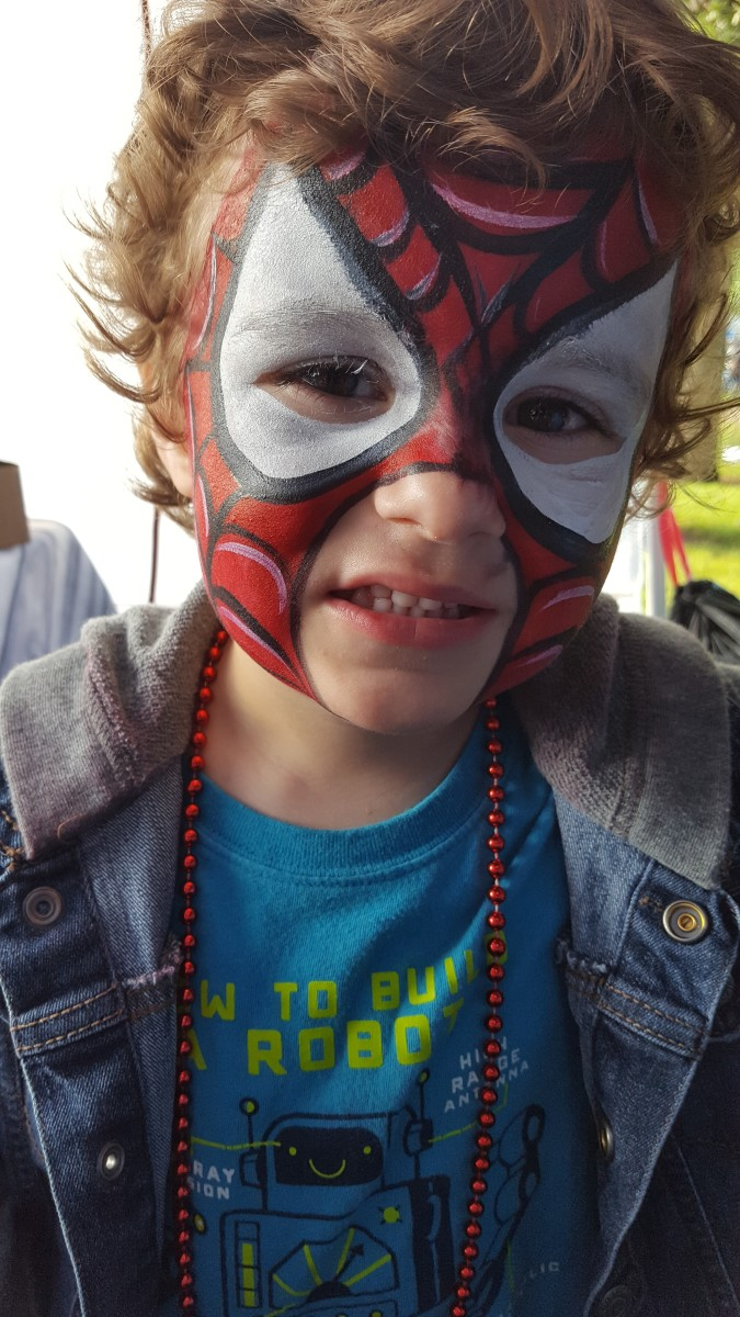 The youngest as Spidey. (Baby Spiderman?)