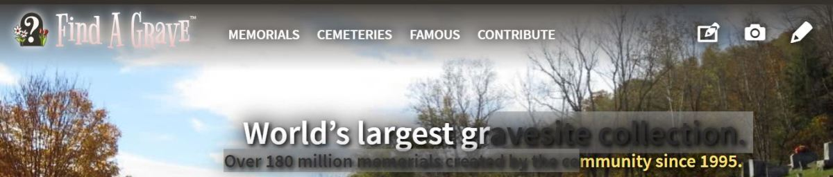 The Find A Grave website.