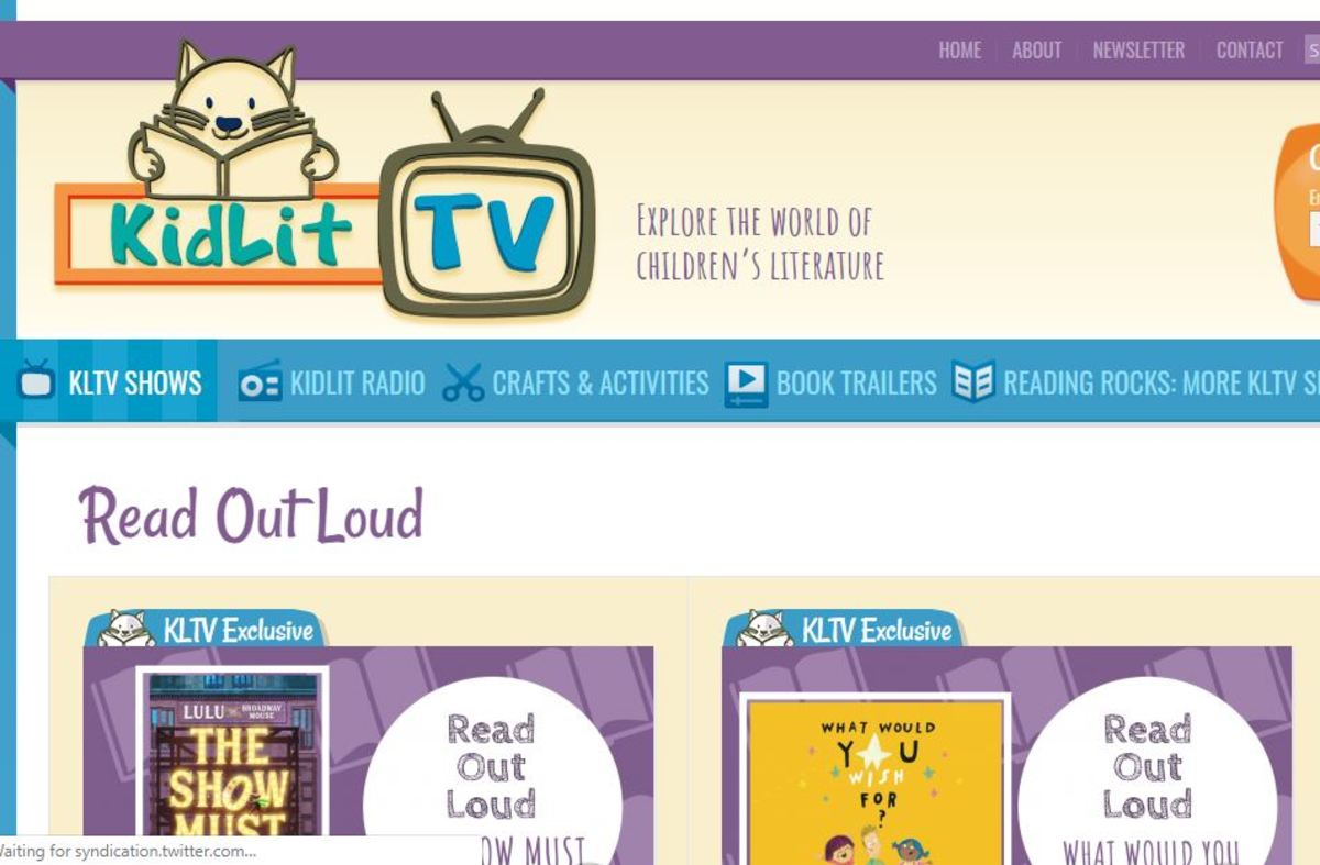 A sample screen from KidLit TV