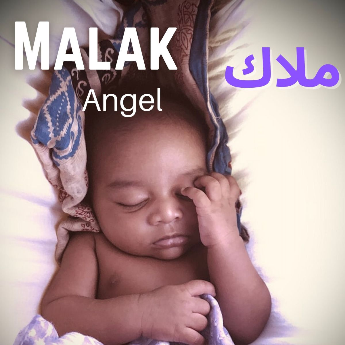 Malak is a sweet girl's name in Arabic.