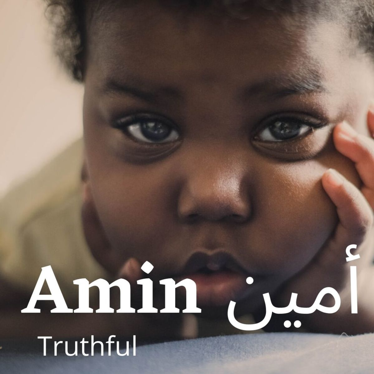 "Amin, or Ameen, is a beautiful boy's name that means ""truthful""."