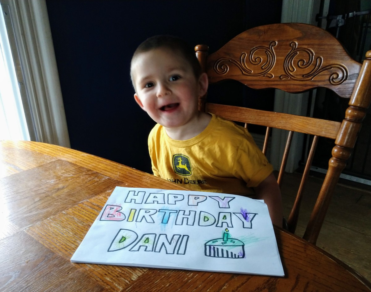 A long-distance birthday greeting.