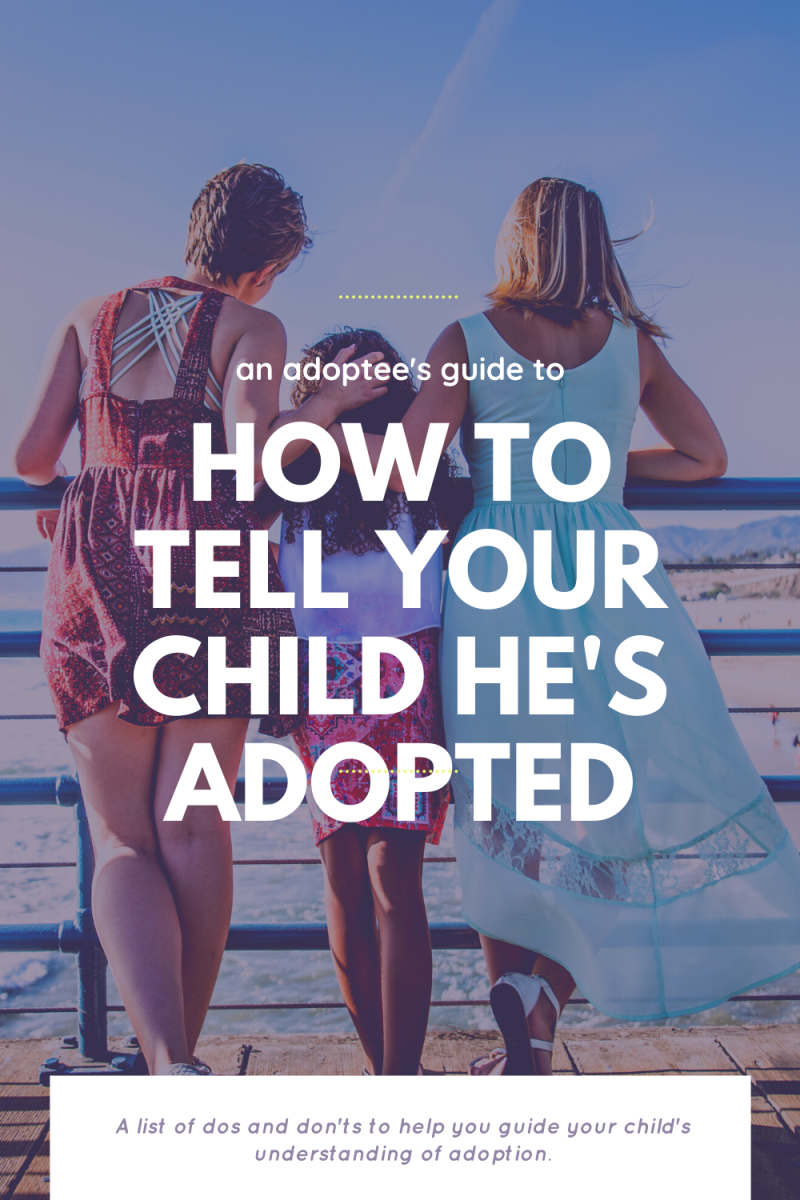 It can be difficult to know how to tell your child he's adopted. Try to keep your language simple and direct. This list of dos and don'ts will help ensure your child understands.