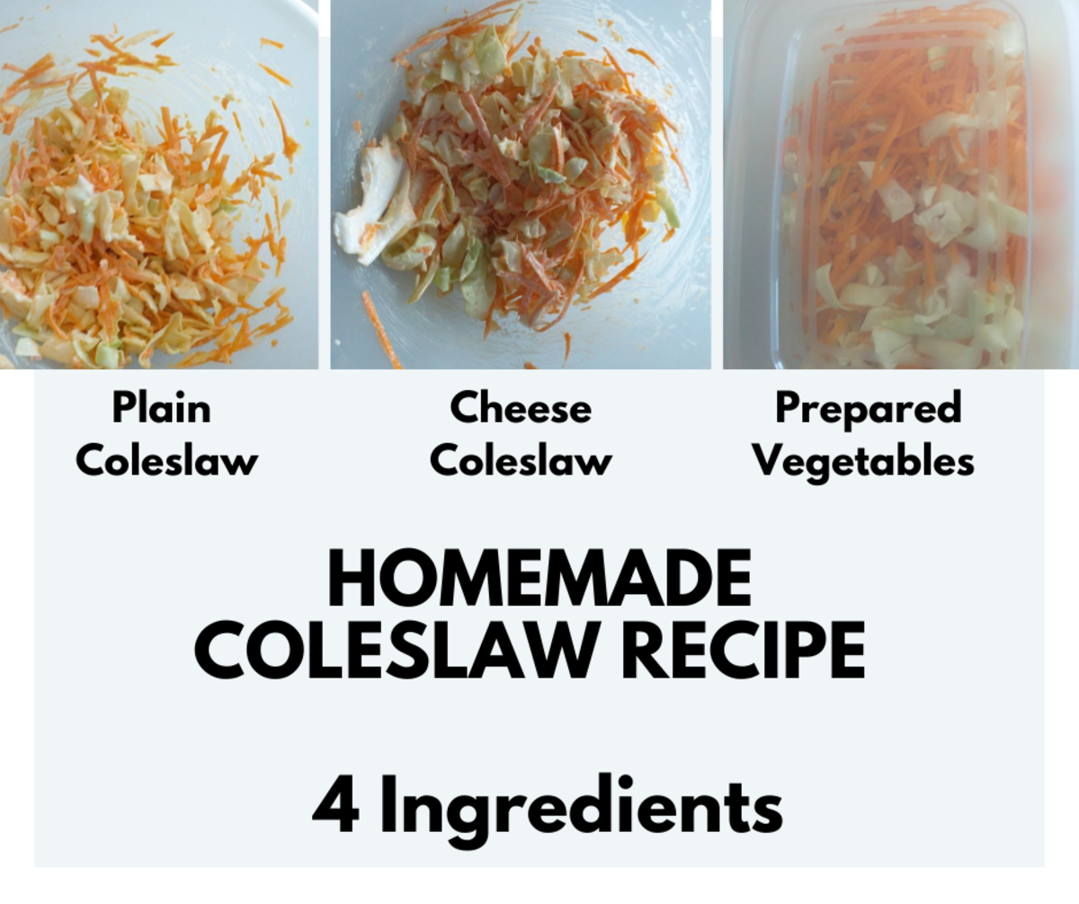 Affordable Homemade Coleslaw Recipe With Only 4 Ingredients