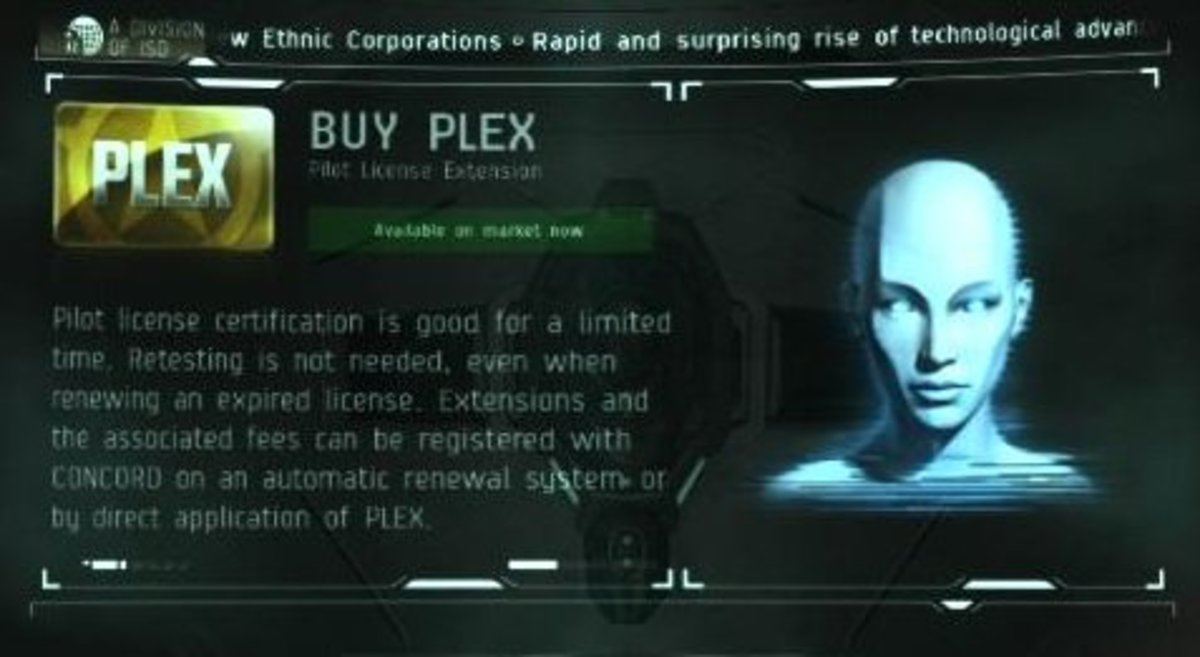 """With enough profit in trading, a pilot can buy PLEX so it will pay for their monthly subscription in """"EVE Online."""""""