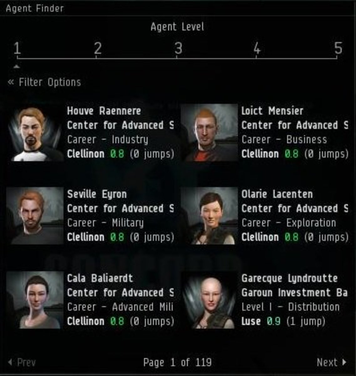 The agent finder is a very useful way to find agents to run missions for in EVE Online.