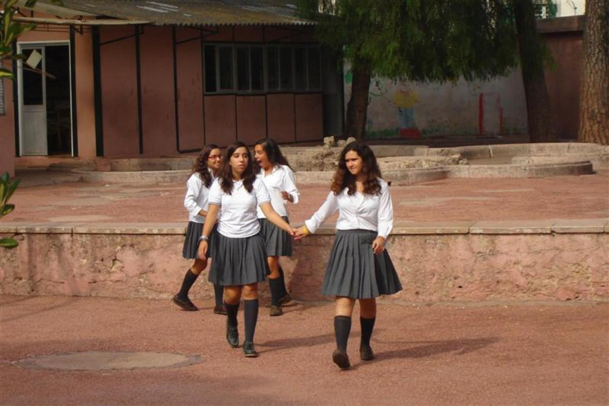 Modern music academy uniform.