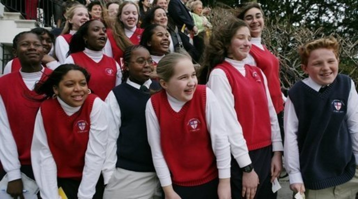 Catholic School student on White House lawn