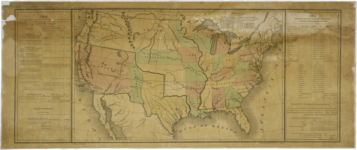 The American frontier in 1848. As U.S. boundaries expanded, citizens answered the call to settle new territories.