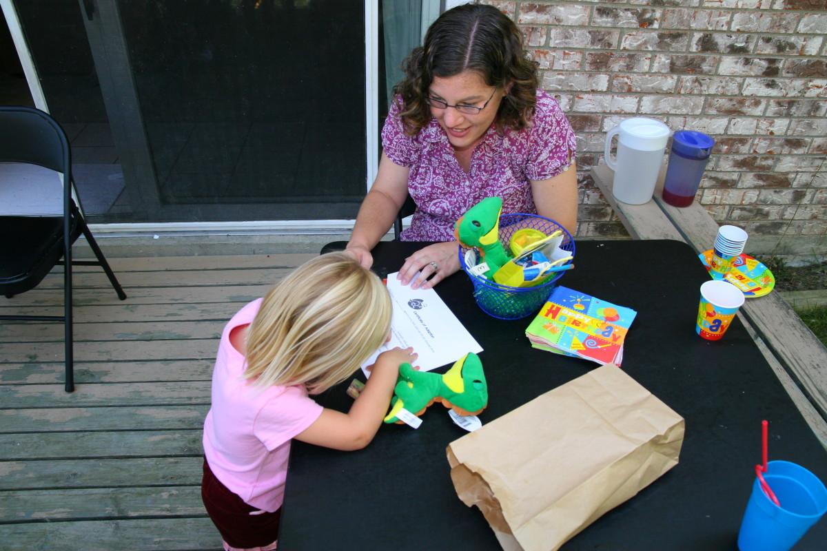 Signing the adoption paperwork