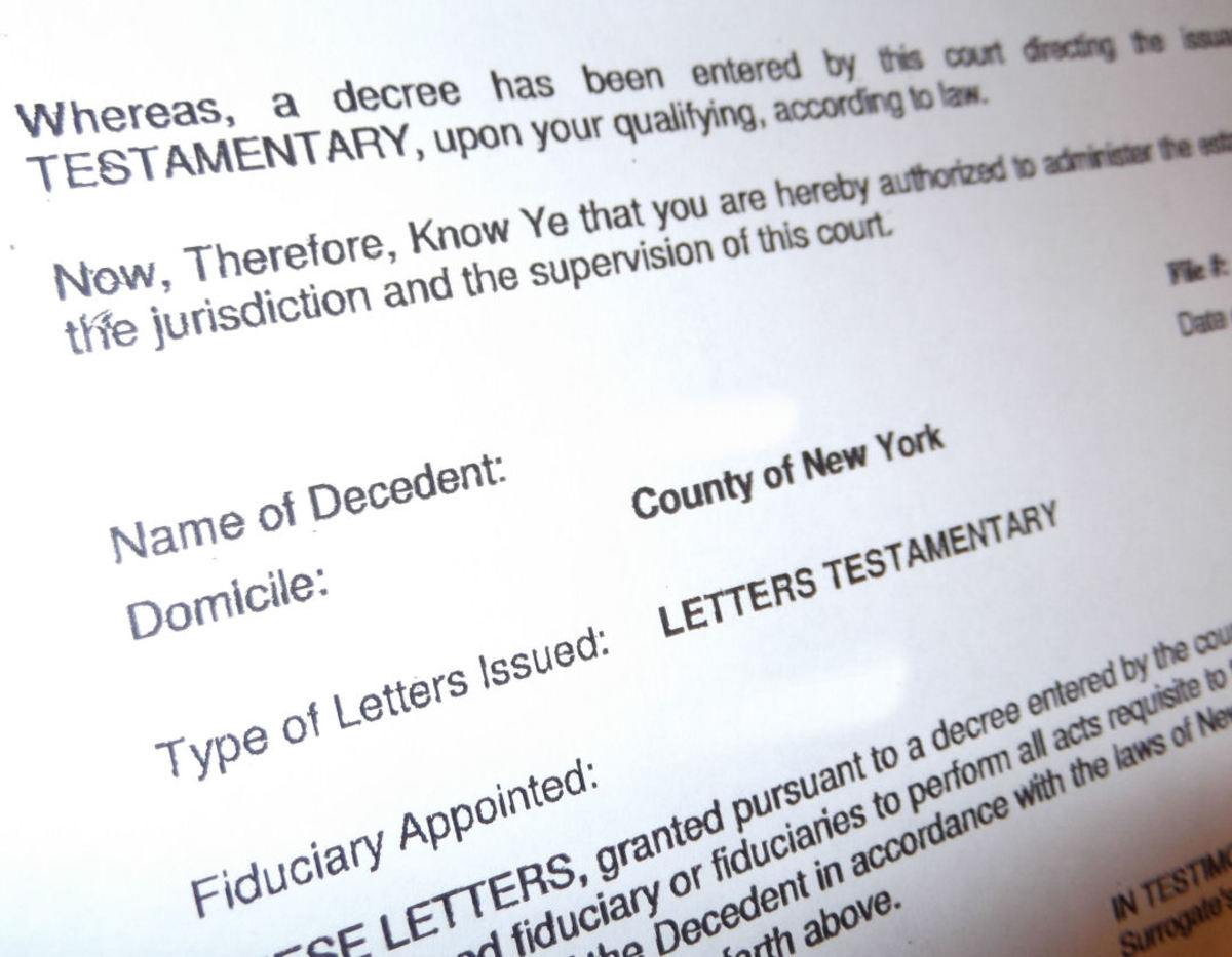 a letter of testamentary officially appoints an executor of the estate