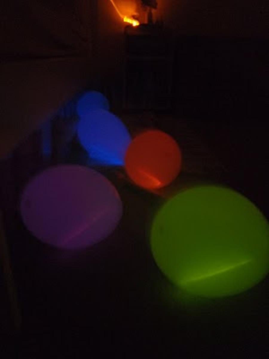 glow stick inside balloons