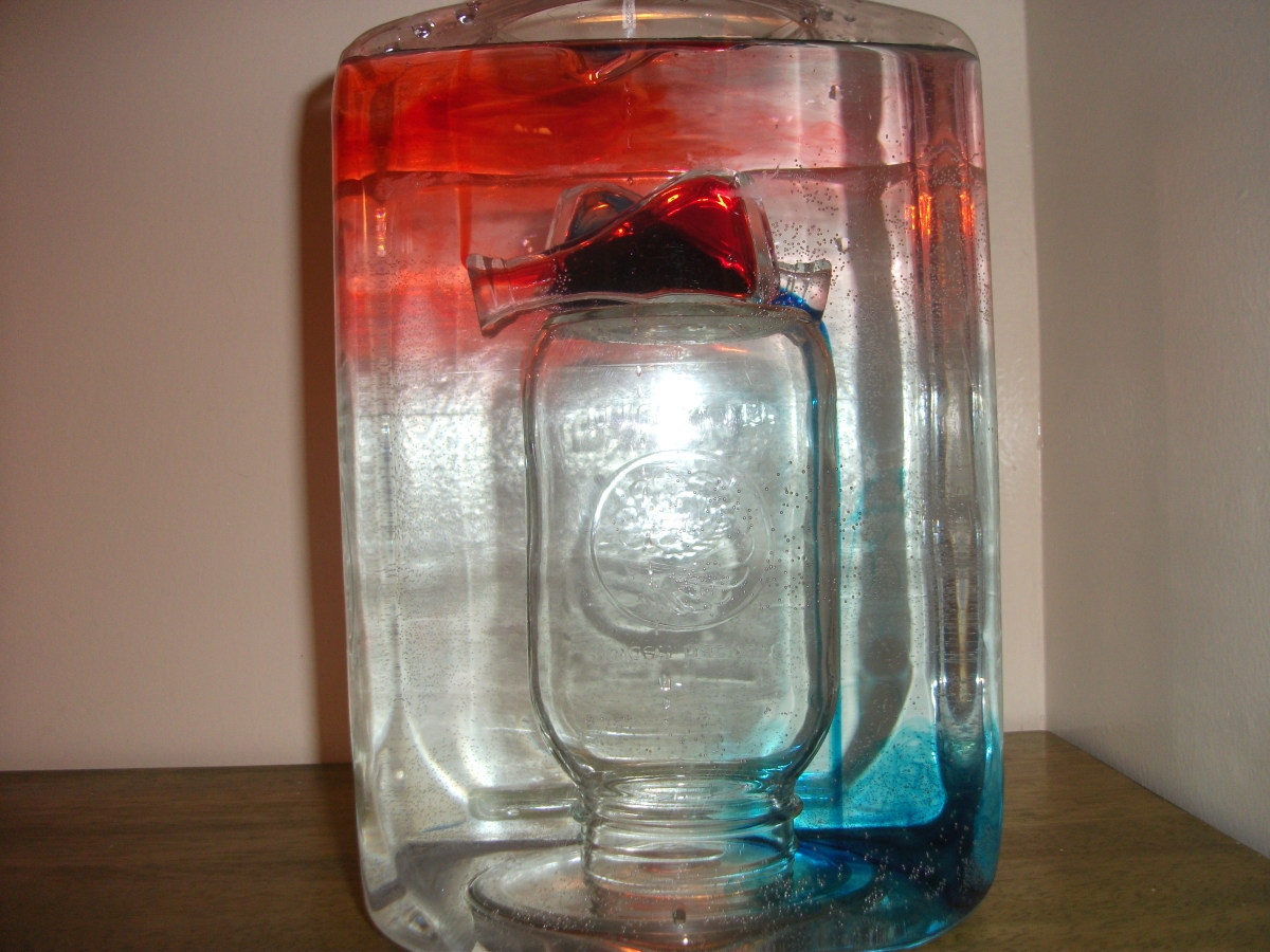 The warm water (red) is flowing up while the cold water (blue) is flowing down.