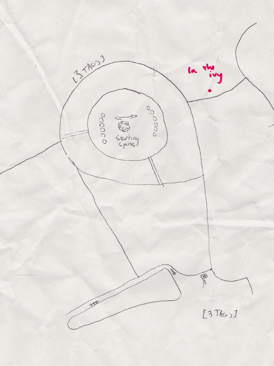 In this map it is now easy to find some of the extra tags. This would be at the Cornucopia, possibly in a backpack.