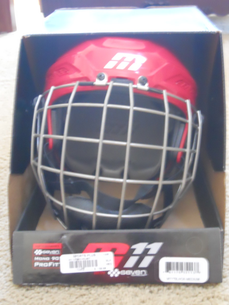 A youth hockey helmet.