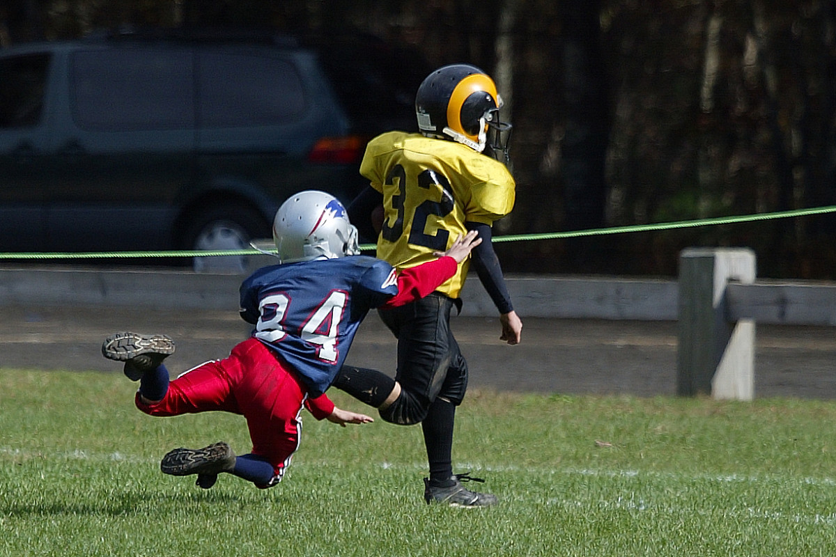 Youth Football in Action