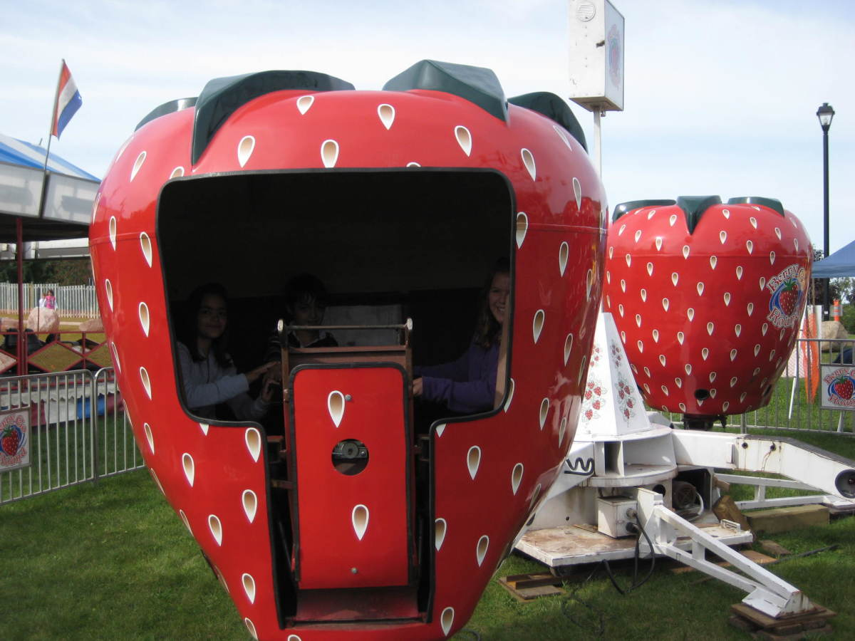 The strawberry ride - a classic fall fair midway ride.
