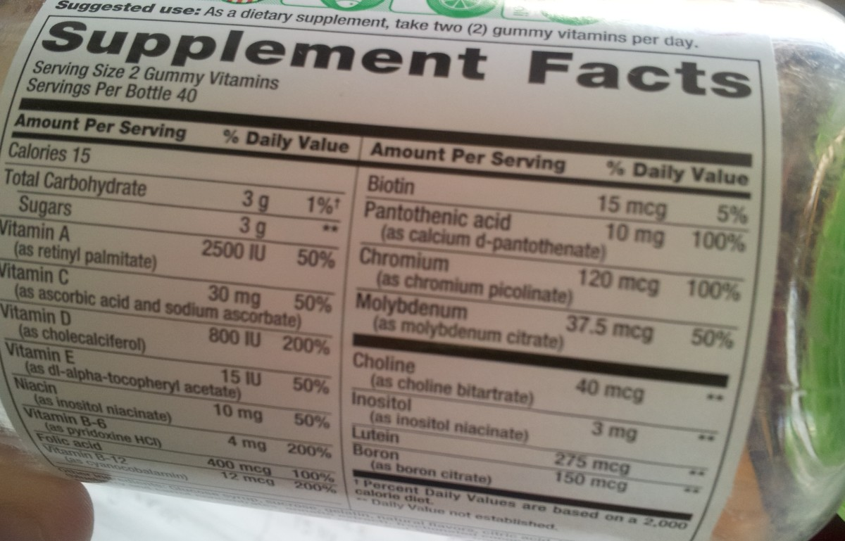 A good prenatal vitamin will have all of the necessary vitamins and minerals listed in the chart above. Read the labels!