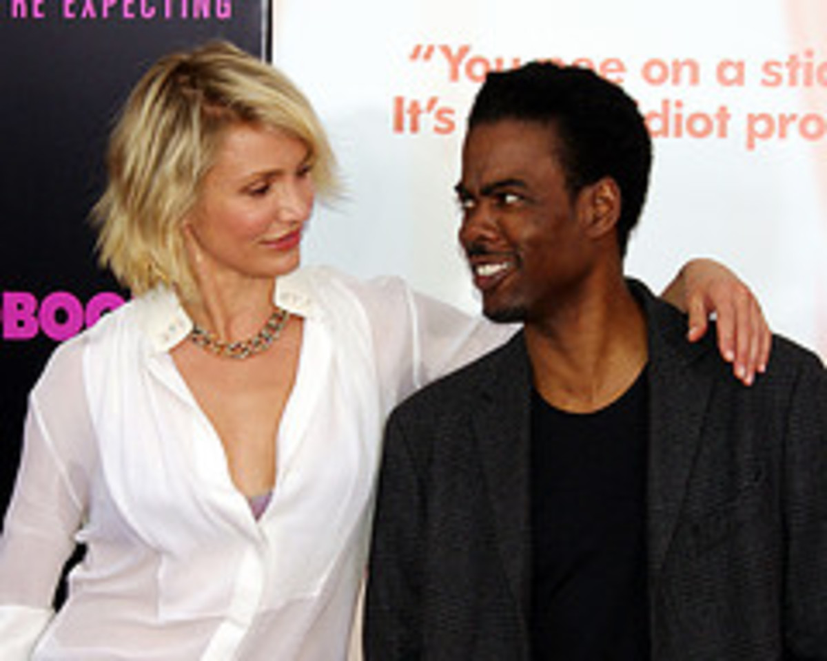 Cameron Diaz and Chris Rock from What to Expect When You're Expecting, the movie.