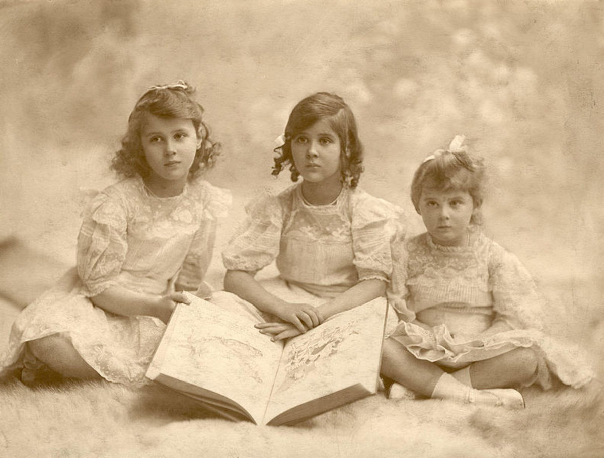 Princesses Olga, Elizabeth and Marina of Greece and Denmark.  Princess Marina married the Duke of Kent.