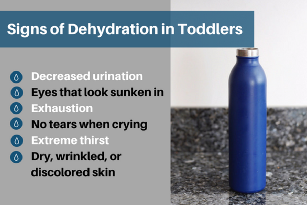 Make sure your toddler doesn't get dehydrated!