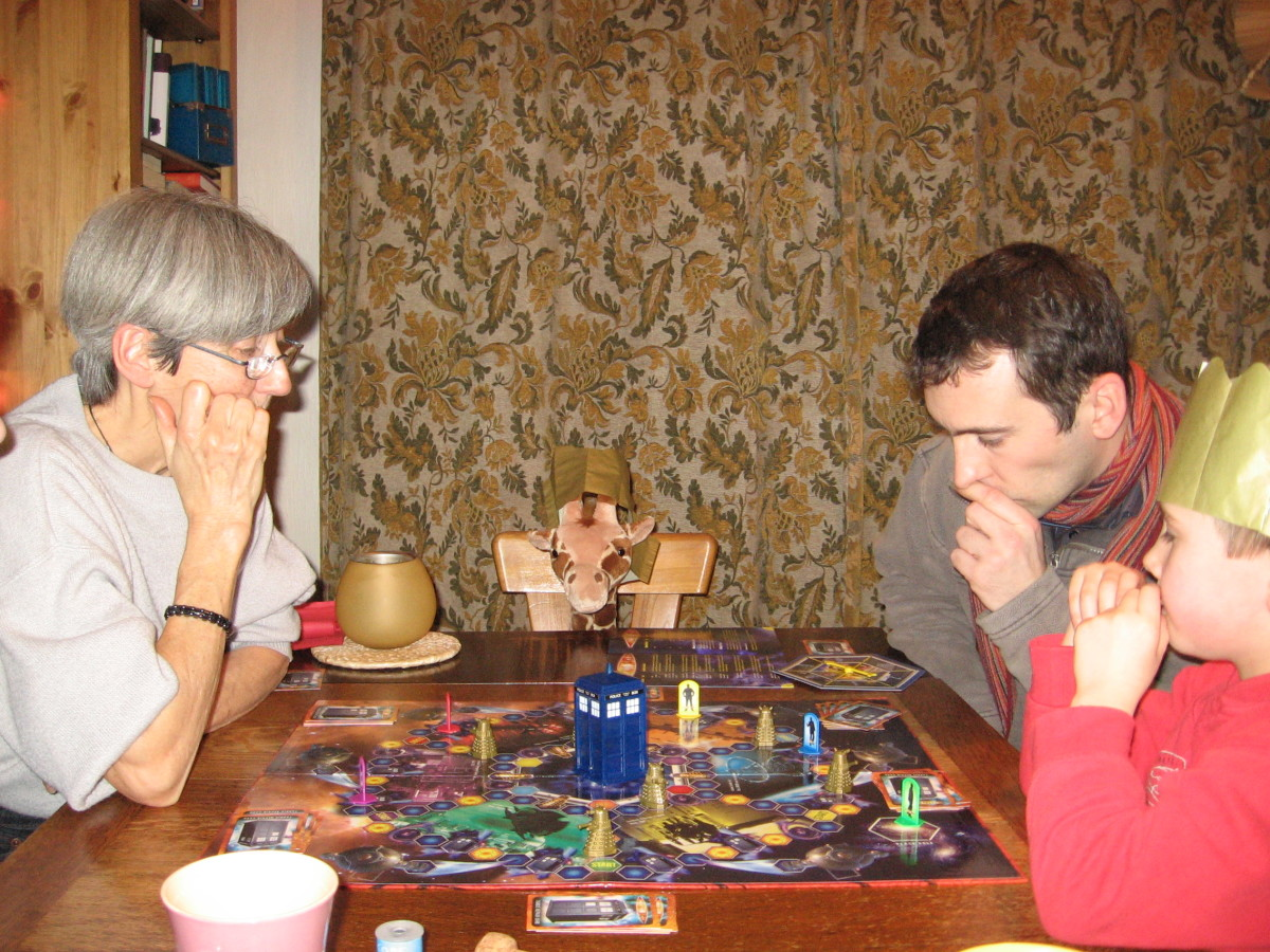 Christmas board games with grandma