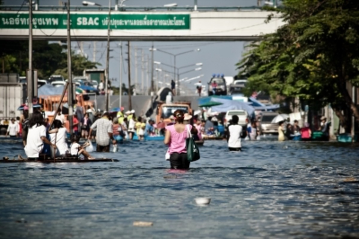 Natural disasters such as floods can have traumatic effect on children.