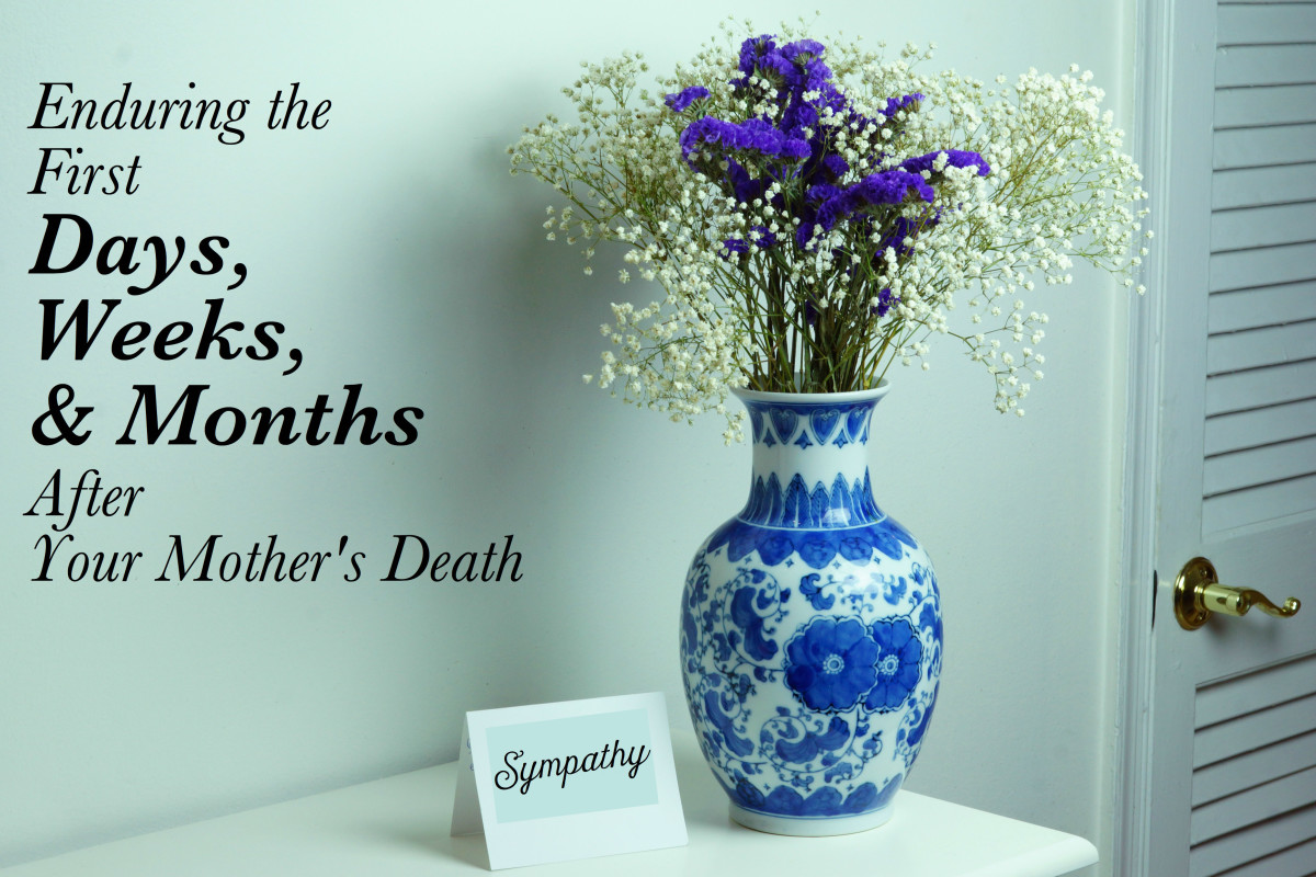 You are likely to receive a lot of support from friends and co-workers in the days immediately following your mother's death.