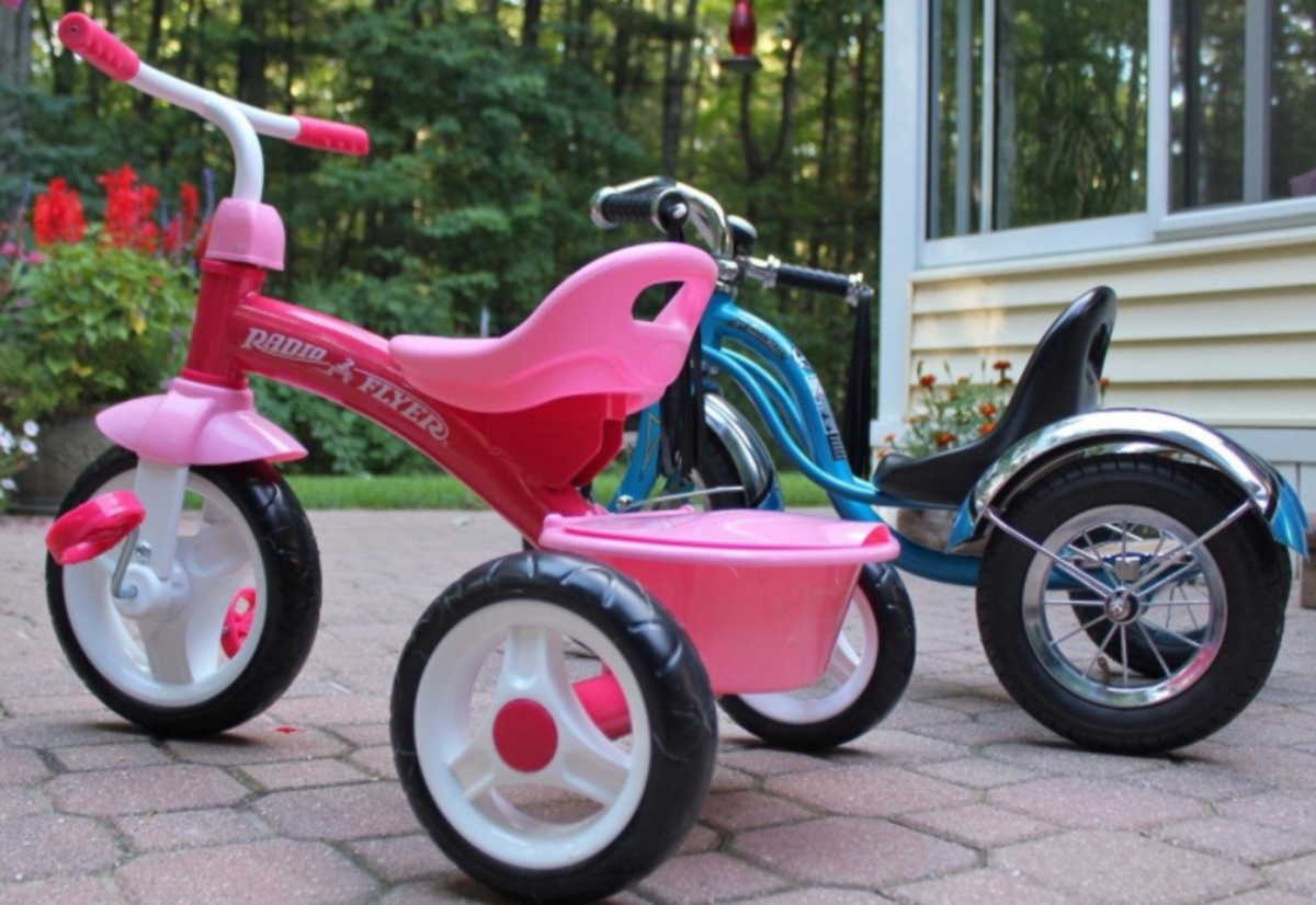A Cute Pink Tricycle for Little Girls Ages 2 to 5.