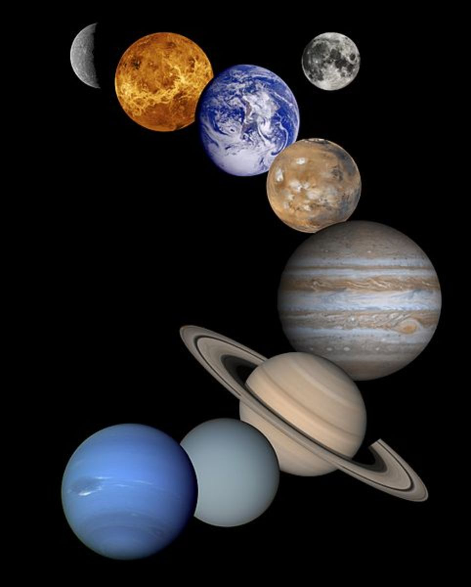 Collage of Our Solar System
