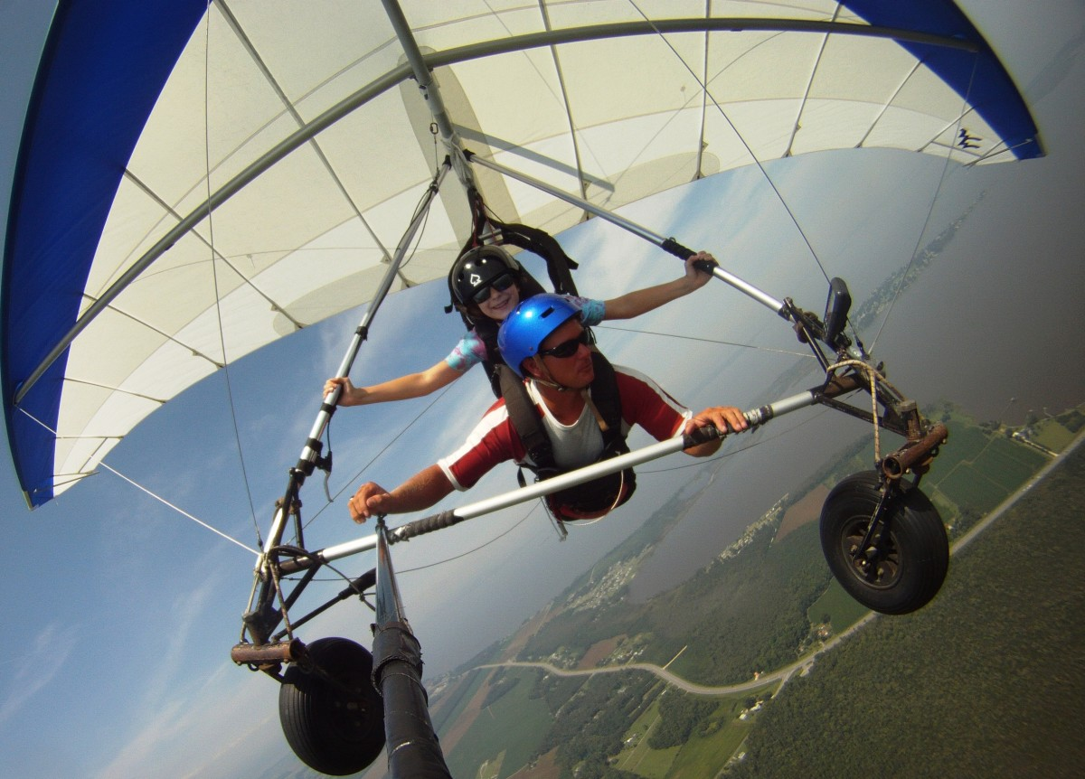 Since there was no parenting instruction manual, I used my best judgment and allowed my daughter to go hang gliding (with a professional, of course.)