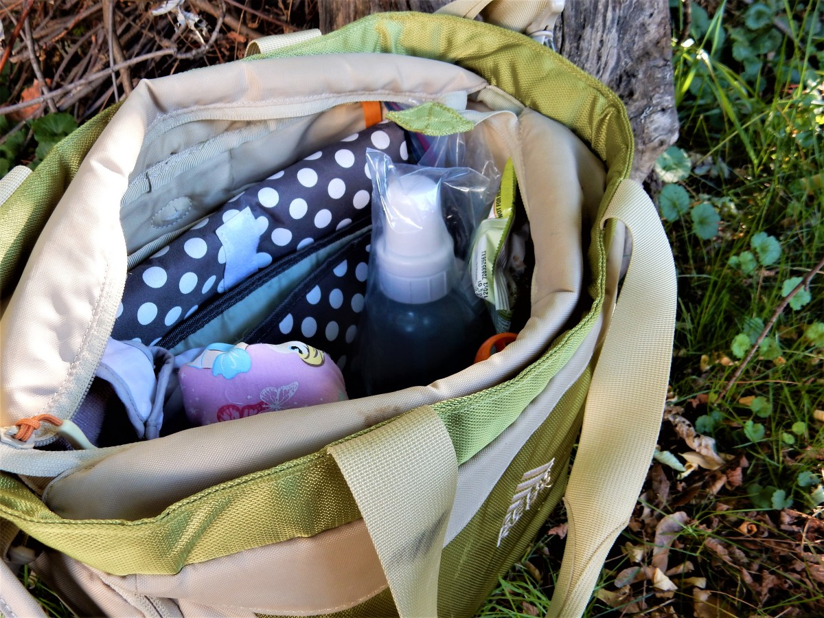 The Kelty Diaper Bag is my go-to organizer when I need to bring everything.